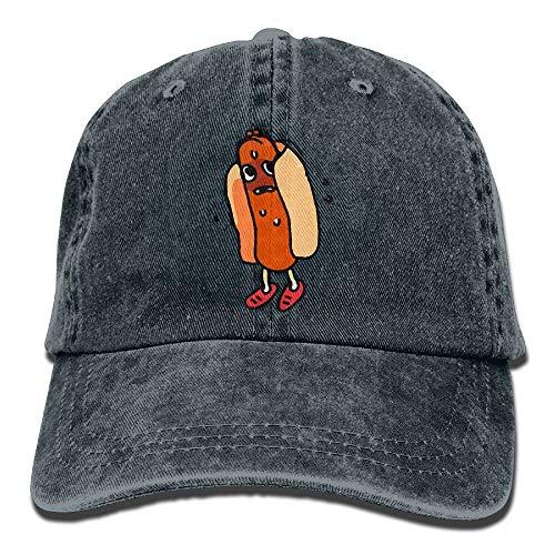 Gxdchfj 2018 Erwachsene Mode Baumwolle Denim Baseballmütze Niedlichen Hot Dog Klassische Papa Hut Einstellbare Plain Cap ()