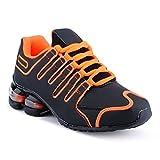 Herren Damen Sneaker Sportschuhe Lauf Freizeit Neon Runners Fitness Low Unisex Schuhe Orange/Schwarz-W EU 38