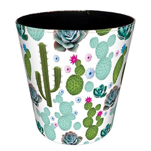 BANDRA Poubelle à Papier par Un Style Européen Circulaire en Poubelle Corbeille à Papier 19×19×19cm 4.5 litres - Cactus