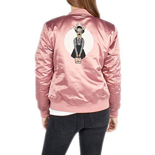 Fashion Deer Bomberjacke Girls Rosa Certified Freak-XL