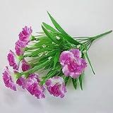 JHZHKA 10 teste fiori artificiali di seta garofani gypsophila fiori finti festa della mamma regali per gli insegnanti regali economici decorazione della casaprugnaA8040