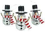 Christmas Concepts Confezione da 3 pupazzetti da 14 cm con ramoscello e braccia appese Bagattelle dell'albero di Natale - Decorazioni natalizie