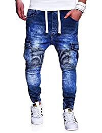 MT Styles Biker Jogging-Jeans pantalon homme RJ-2271