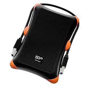 Silicon Power 1TB Rugged Armour A30de qualité militaire résistant aux chocs USB 3.06,3cm disque dur externe portable pour PC. 1 1 To Orange