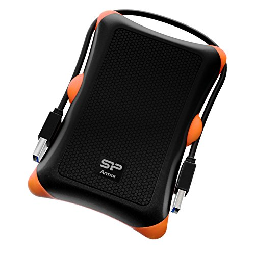 Silicon Power Rugged Armor A30 - Disco duro externo portátil de 1 TB (2.5', USB 3.0, SATA III), color negro