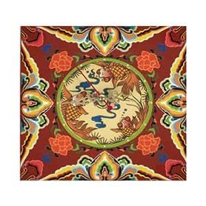 HORLOGE 15 x 15 cm - Motif Asiatique - Symbolique Fortune