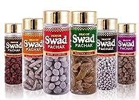 Swad Pachak Set of 6 Bottles Shahi Anardana Goli, Meetha Amla, Khatta Meetha Khajoor, Anar Amla, Special jeera Goli & Khatta Meetha Aam (Pack of 6), 660 gm