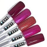 Color Gel 5er Set (je 5ml): Dark Pink - Kollektion Gel Pink, Gel Lila, Gel Rosapink