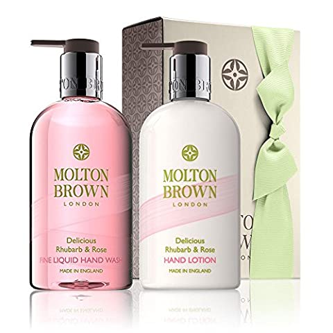 Molton Brown Delicious Rhubarb & Rose Hand Wash & Lotion Set