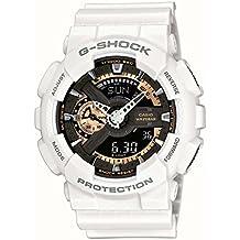 Casio GA-110RG-7A - Reloj de cuarzo para hombre, correa de resina color blanco