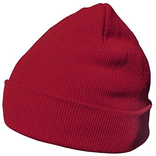 DonDon Wintermütze Mütze warm klassisches Design modern und weich bordeaux ()