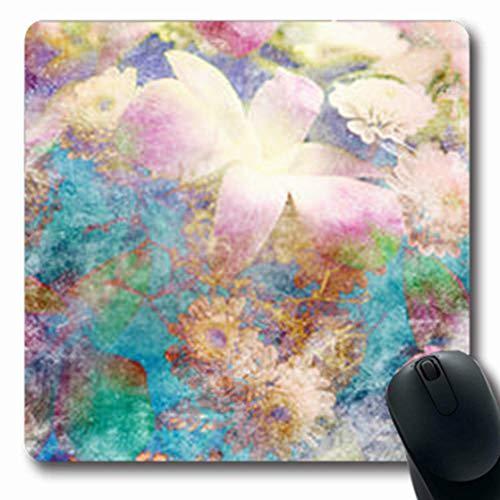 Luancrop Mousepads Wasser-Blumen machten abstrakte Farbfilter-Natur-längliches Spiel-Mausunterlage-rutschfeste Gummimatte