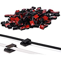 200 PCS Clips de Cable Autoadhesivo Abrazaderas de Cable Multiusos Sujeta Cable para Desordenados en Hogar, Oficina y Coche