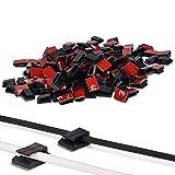 200 Stück Kabel-Clips Draht Klebstoff Kabel Clips Auto Kabelbinder Kabel Management Kabel Drahtklemmen Draht Halter Veranstalter für Auto, Büro und Haus