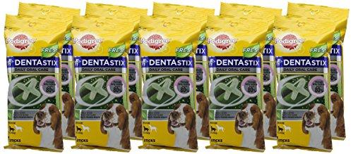 Pedigree DentaStix Fresh Hundesnack für mittelgroße Hunde (10-25kg), Zahnpflege-Snack mit Eukalyptusöl und Grüner Tee-Extrakt, 10 Packungen je 7 Stück (10 x 180 g) - 2