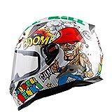 Motorrad Helm Männer Und Frauen Full Face Helm Abdeckung Persönlichkeit Coole Vier Jahreszeiten Doppelobjektiv,M
