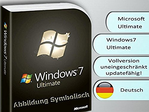 Windows 7 Ultimate 32/64 Bit OEM Vollversion (Produkt Key Card ohne Datenträger) (Windows 7 Ultimate Key)