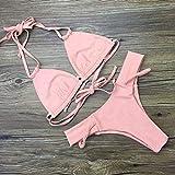 ZHRUI Costume da Bagno Diviso a Tre Punti con Fasciatura Intrecciata Bikini-Bikini (Colore : S, Dimensione : -)