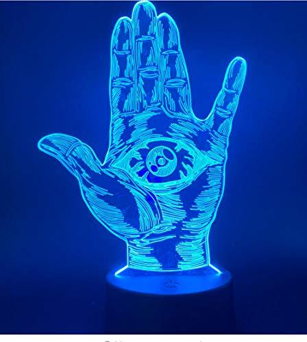 Auge Der Vorsehung Führte Nachtlicht-Einzelteil-Farbänderndes Handnachtlicht Für Dekorativen Noten-Schalter Des Büro-Ausgangsraumes