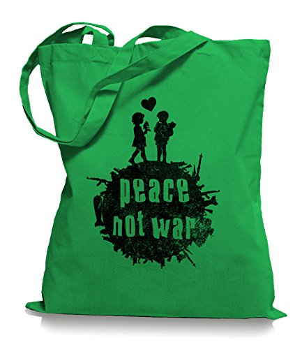Ma2ca® Peace Not War - Borsa In Tessuto Juta Borsa A Mano / Borsa Wm101 Kelly
