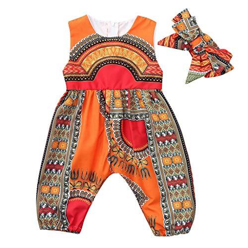 Zylione Mädchen Anzug Baby Sommer Mode Overall nationalen Wind ist Nicht positioniert Druck ärmellosen Overall + Haarband zweiteilig
