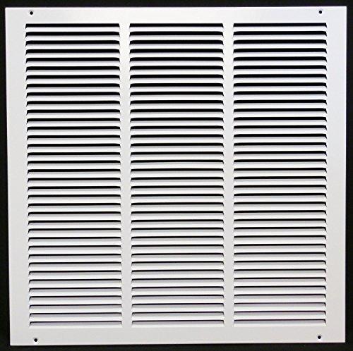 Return Lüftungsgitter-Seitenwand und CIELING-Klimaanlage Vent Duct, Diffusor 4 x 18 weiß -