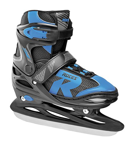 Roces Kinder Jokey Ice 2.0 Verstellbarer Schlittschuh, Black/Astro Blue, 26-29