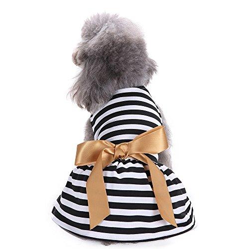 Hawkimin - Vestido para Mascotas de poliéster cómodo, con Nudos de Arco,...