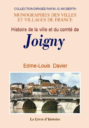 Joigny (Histoire de la Ville et du Comte de)