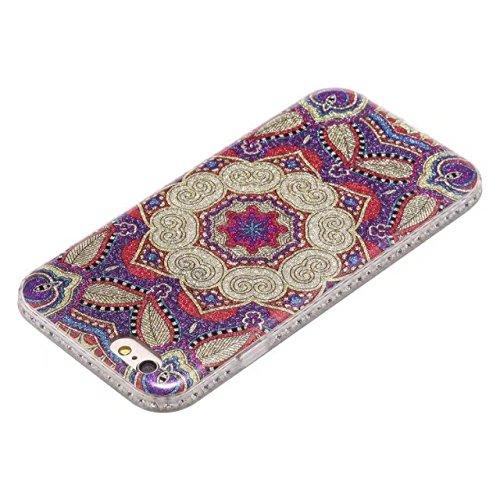 GR Für IPhone 6 & 6s-Bling Sparkle Glitter Strass Harz Diamant schützende Rückseite Case weiche TPU Shell Bumper Cover [Shock Absorbtion] ( Color : C ) A