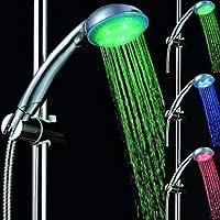 رأس استحمام بإضاءة ليد، ثلاثة ألوان