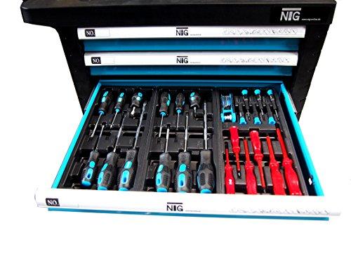 Werkzeugwagen Werkstattwagen Werkzeugkasten Werkzeugkiste + Werkzeug 220 tlg. - 4