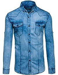 BOLF Mens chemise en jean casual shirt shirt hommes Scène Jeans Mix 2B2