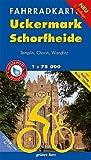 Fahrradkarte Uckermark, Schorfheide: Mit Radweg Berlin-Usedom. Mit UTM-Gitter für GPS. Maßstab 1:75.000. Wasser- und reißfest. (Fahrradkarten)
