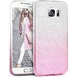 Coque Samsung Galaxy S7, TheBlingZ® housse étui de protection [Hybrid Case] Etui de couverture Bling Bling avec brillants en TPU - Pink Shading