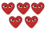 COMME des GARCONS Embroidered Patch Embroidery sew on Cloth Patches RED 5 PCS