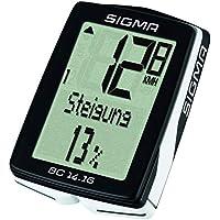 Sigma Sport Fahrrad Computer BC 14.16, 14 Funktionen, Höhenmessung, Kabelgebundener Fahrradtacho, Schwarz