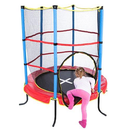 Ultrasport Kinder Indoortramplin Jumper 140 Inklusiv Sicherheitsnetz, Rot/Blau, 33070000065P - 6