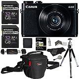 Ritz Camera Canon PowerShot G9 X Digital Camera 20.2 MP Sensor & Wi-Fi (Black) + 32GB 2 Pack + Ritz Gear Case + Card Reader + Polaroid 8 Tripod + Cleaning Kit + Memory Card Wallet + Screen Protector Bundle