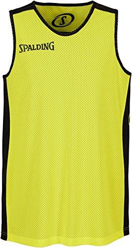 Spalding Bekleidung Teamsport Essential Reversible Shirt, Schwarz/Neongelb, XXL, 300201406