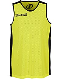 Spalding Essential Camiseta Reversible de Entrenamiento, Hombre, Negro, L