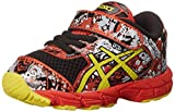 ASICS Noosa Tri 11 TS Running Shoe (Toddler), Black/Sun/Orange, 4 M US Toddler