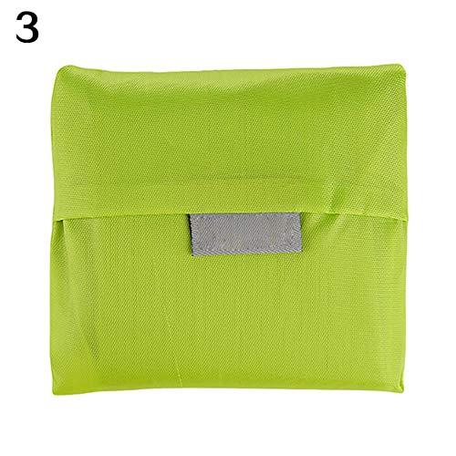 LYHONG 2Pcs GroßE Faltbare Einkaufstasche Lagerung Tote Handtasche Eco Friendly Nylon Taschen Faltbare wasserdichte Ripstop UmhäNgetasche, GrüN -