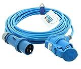 CEE-Verlängerung 230V H07BQ-F 3G 2,5 mm² 10 m Vollpur-Premium-Leitung mit Winkelkupplung von KALLE...