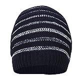 FabSeasons WC59 Acrylic Skull Cap, Men's Free Size (Navy Blue)