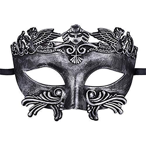 Kapmore Mens Maskerade Maske Griechische Römische Party Karneval Halloweenmaske (one size, square ()