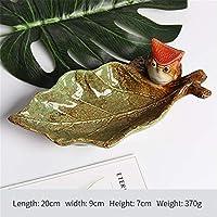 PORCN Nette Keramik Vögel Figurine Obst Süßigkeiten Ornament Teller Dessert Snack Salat Platte Dekoration Hochzeit Handwerk Geschenk, A