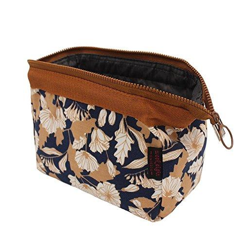 Travel Accessory Organizer Sac cosmétiques, grande capacité Travel Makeup Pouch pour femmes Filles, Ladies Canvas Steel Frame Cosmetic Bag