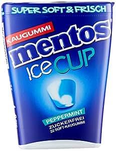 Mentos Gum Ice Cup Peppermint | Soft-Kaugummi mit Mint-Geschmack | 8 Dosen mit je 22 Kaugummis | Extra Frische-Kick durch Eiskristalle