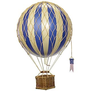 Authentic Models - Hot Air Balloon: Travels Light, Blue - 18 cm diameter